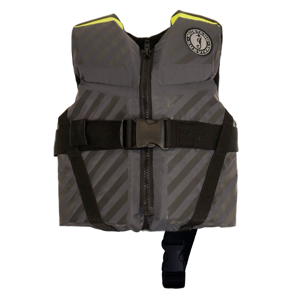 Mustang Survival - Mustang Lil' Legends 70 Child Vest - 30-50lbs - Fluorescent 黄-緑/Gray by Mustang Survival