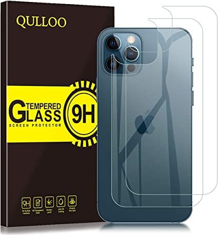 QULLOO Back Pellicola per iPhone 12 PRO Max 6.7