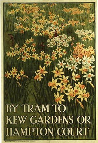 1920/'s Hampton Court Tram Poster A3//A2 Print