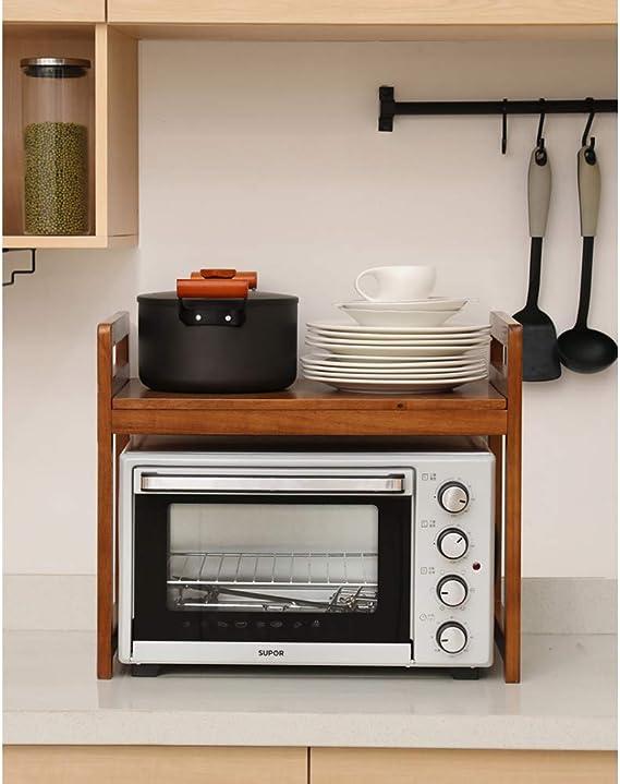 Ymiko Scaffale per Forno a microonde da Cucina scaffale per ripiano per Forno a microonde a 2 Livelli