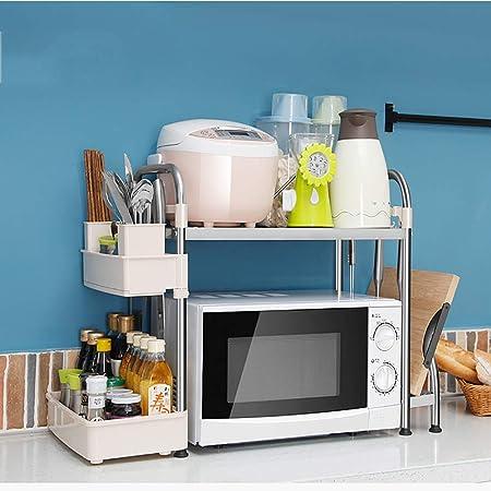 NewbieBoom Armarios Altos Estantes de Cocina/microondas Rack de ...