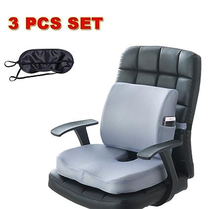 CompuClever Memory Foam Cojines de asiento y soporte lumbar ...