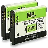 2x Akku / Batterie wie DMW-BCN10 DMW-BCN10E für Panasonic Lumix DMC-LF1 | Lumix DMC-LF1K | Lumix DMC-LF1W und weitere… [ Li-ion; 800mAh; 3.7V ]