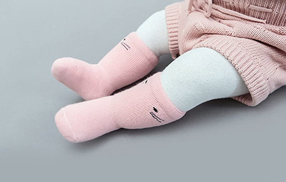 Elfjoy 3Pairs Cute Cotton In Tube Socks Unisex-Baby Boy Girl Soft Warm Socks For Toddler Infant Kids baby-girls 1-3 Years