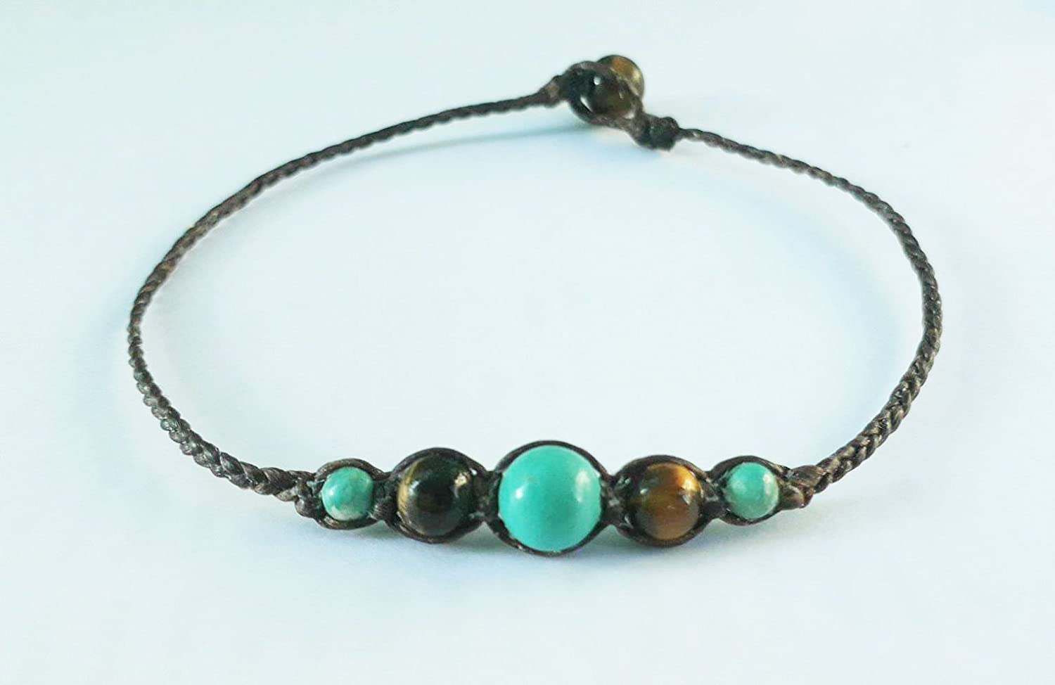 Turquoise anklets, tiger eye anklets, stone anklets, men anklets, women anklets, fashion anklets