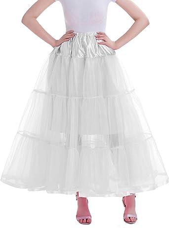 Aysimple Larga Enaguas Mujer Cancán Vintage Rockabilly Falda ...