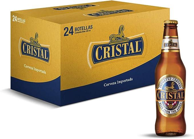 Cerveza Cristal - caja de 24 botellas x 33cl: Amazon.es: Alimentación y bebidas