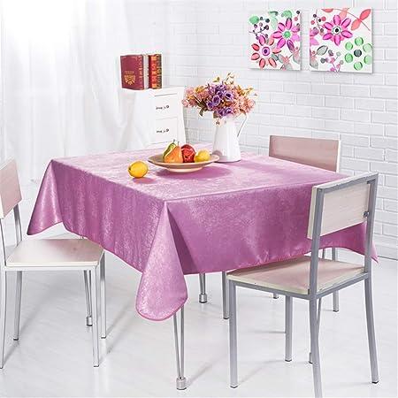 WENXIAOXU Mesa Rectangular Impermeable Mantel para Salón ...