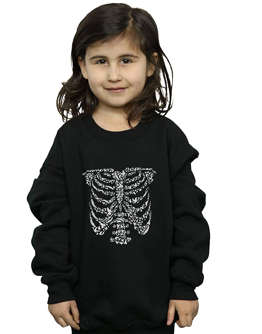 Drewbacca Girls Ribcage Birds Sweatshirt