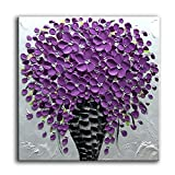 baccow 2424'' Hand Painted Lavender Pink Canvas Painting Wall Art 3d Modern Framed Wall Paintings For Living Room Bedroom Home Decor …
