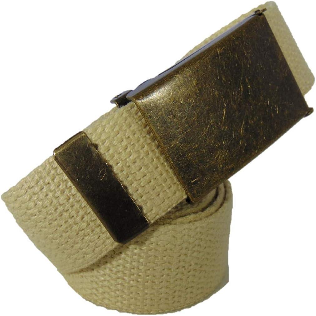 Antique Brass Buckle Hemp Web Belt