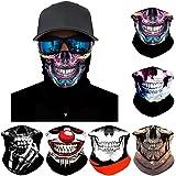 FAYBOX 6pcs Magic Wide Wicking Headbands Outdoor Headwear Bandana Sports Scarf Tube UV Face Mask for Workout Yoga Running Hik