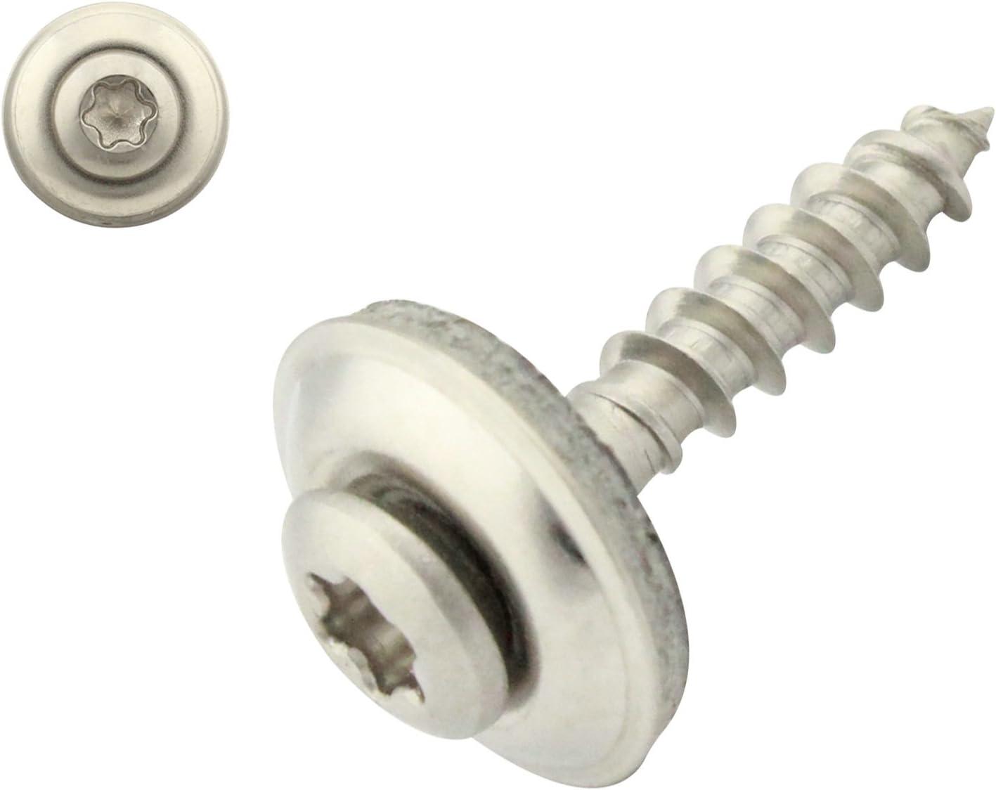 SC-Normteile/® Innensechsrund TX 40 St/ück Spenglerschrauben mit EPDM Dichtscheibe 4,5x30 mm DIN7995 Edelstahl A2 V2A 15 mm