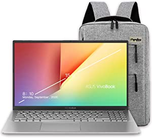"2020 ASUS VivoBook 15 15.6"" FHD Display Laptop Computer, AMD Ryzen 7-3700U, 12GB RAM, 512GB PCIe SSD, AMD Radeon RX Vega 10, Webcam, HDMI, Windows 10, Silver + Lengendary Backpack & Mousepad"