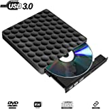 External CD DVD Drive USB 3.0 Ultra-slim Portable DVD Burner Writer Reader Player Superspeed for Apple MacBook Pro iMac Windows 10/8 / 7 Linux Laptops