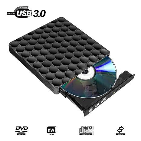Grabadora DVD Externa USB 3.0 Rápido Lector DVD Externo Portátil Slim Grabadora Reproductor de CD/