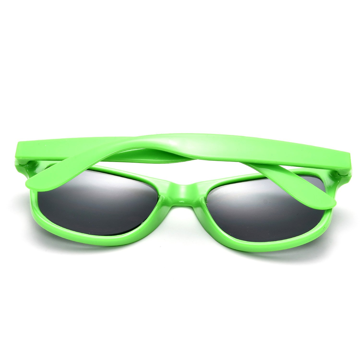 12 Packs Wholesales 80's Retro Style Neon Party Sunglasses 400 UV Protection for Party Favors,Photo Booth Prop,Goody Bag Favors,End of Year Giveaway,Birthdays Gifts for Mam & Women (12 Multicolor) by Sunovelty (Image #4)