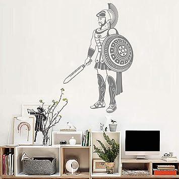 haotong11 Guerrero Griego Vinilo Etiqueta de la Pared Mundo Antiguo Cultura Fondos de Pantalla Adolescentes Boy Room Decor Art Stickers Mural extraíble ...