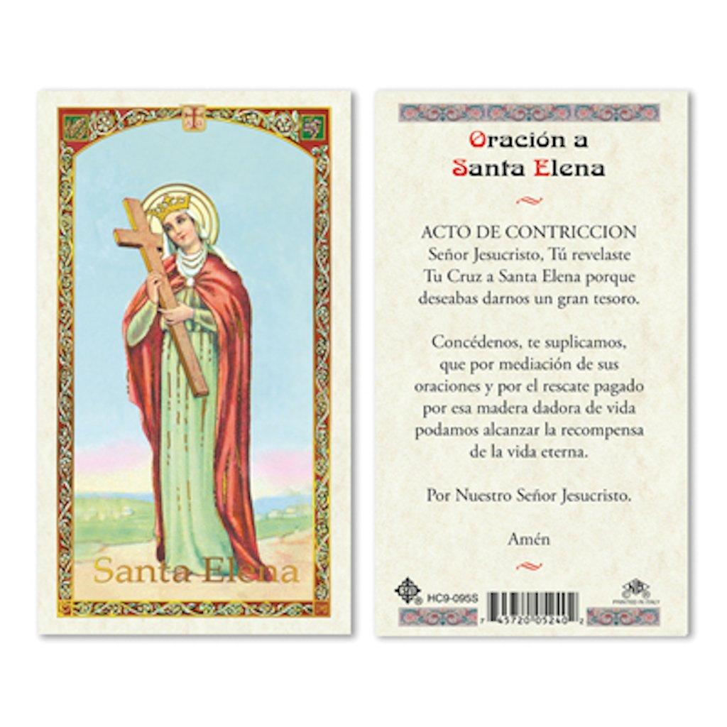 25//PKG SPANISH ST HELEN LAMINATED PRAYER CARDS