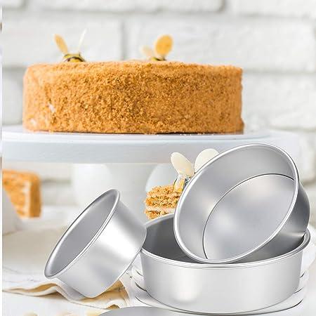 Ankway Tortiera Rimovibile con Antiaderente Set 3 Stampi Ideali per Pan di Spagna Cheesecake 5// 6 // 7 Charlotte