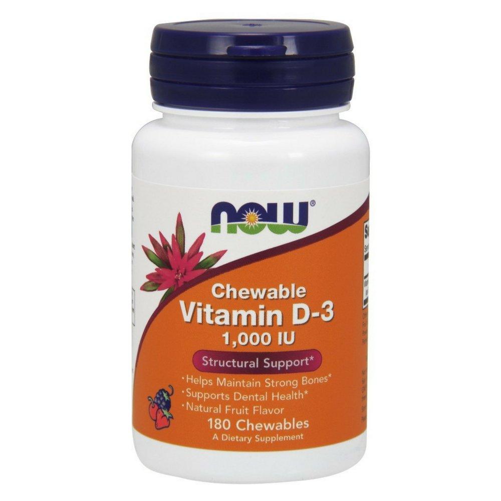 NOW Vitamin D-3 1,000 IU,180 Chewables