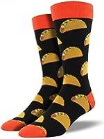 Socksmith Men's King Size Novelty Crew Socks Tacos-Black