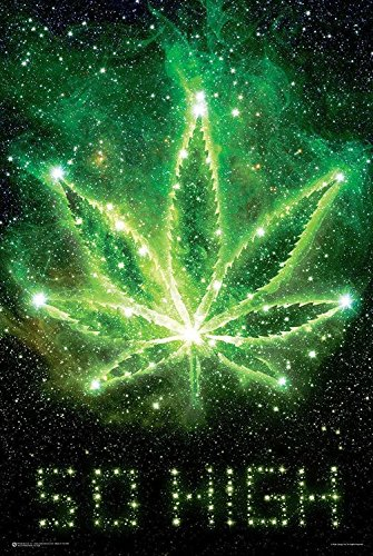 So-High-Marijuana-in-Space-24x36-Art-Print-Poster