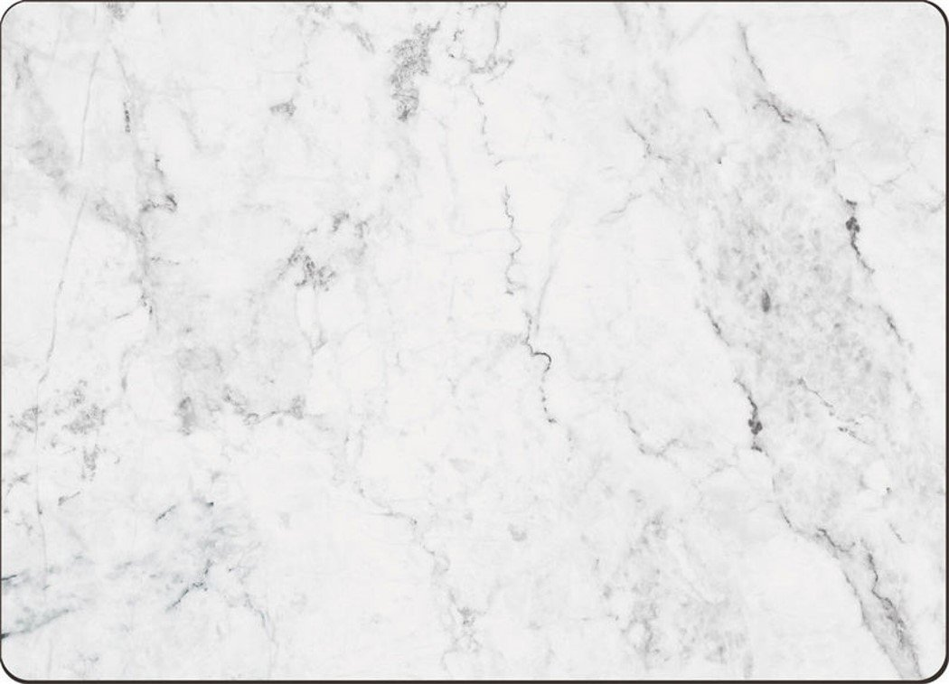 4 Cala Home Premium Hardboard Placemats Table Mats, White Marble by Cala Home