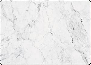 4 Cala Home Premium Hardboard Placemats Table Mats, White Marble