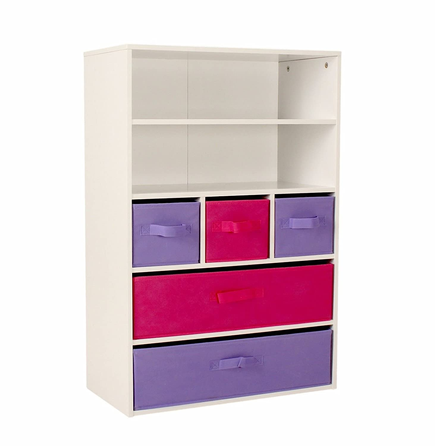 Children Storage Bookcase Rack Kids Toy Organizer Cabinet With Display