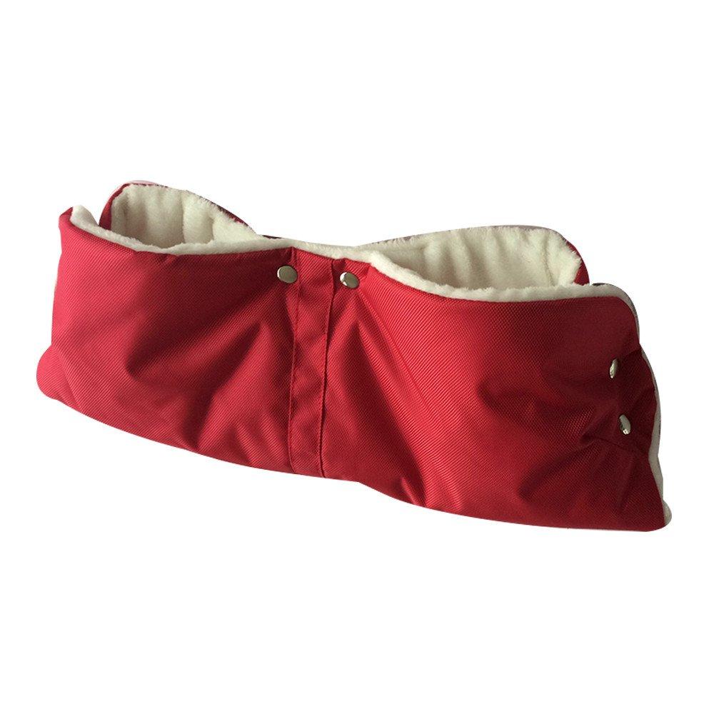 Moginp Unisex Handschuhe Baby Stroller Wasserfest Winddicht Fleecefutter Lederhandschuhe Freesize) MOGDF5024