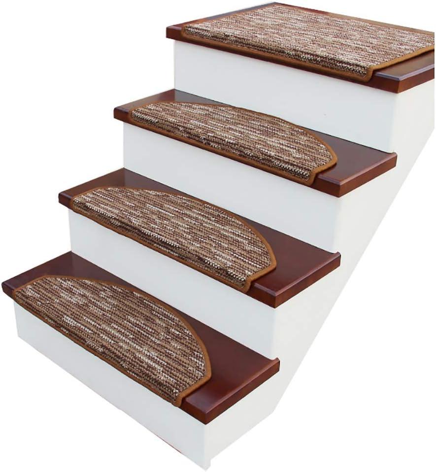 RYP Alfombras de Escalera 5pcs Escalera de Caracol Tread Mat, Antideslizante Escaleras Cojín Cubierta Escalera Protectores, Paso esteras for Piso por Escalera (Color : 5, Size : 75 * 24cm): Amazon.es: Hogar