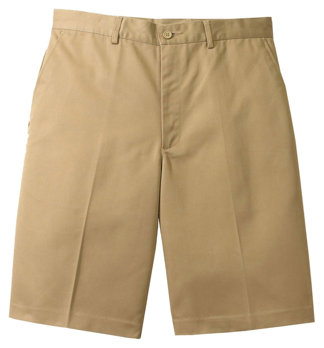 Ed Garments Men's Flat Front Casual Chino Blend Short, TAN, 40