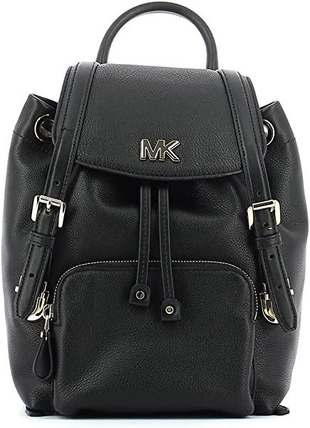 66963f7f69dd MICHAEL by Michael Kors Beacon Black Leather Small Blackpack. Back.  Double-tap to zoom