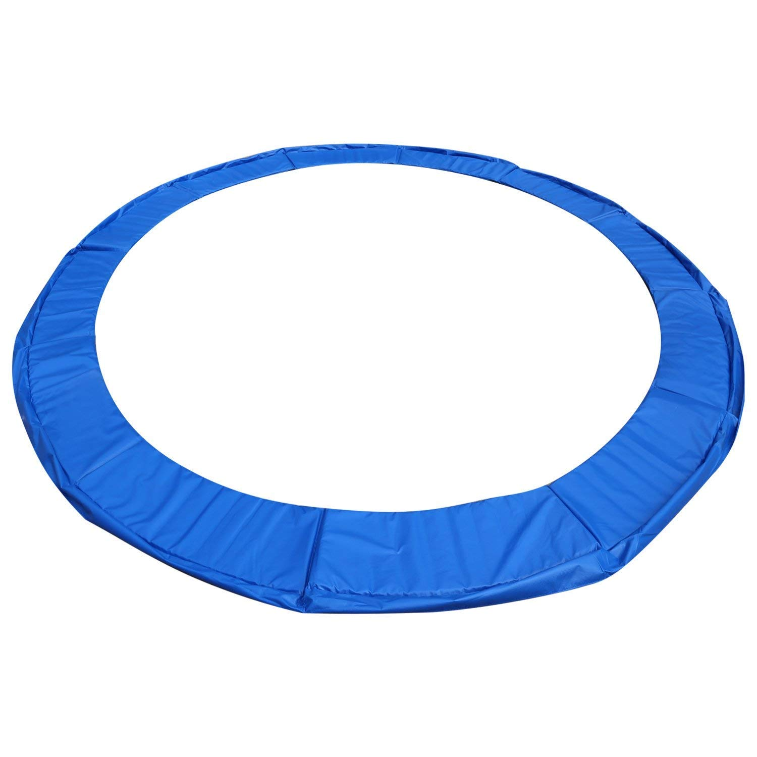 CHISTAR Trampoline Replacement Safety Pad,Waterproof 12FT 14FT 15FT Trampoline Padding Cover,Replacement Trampoline Surround PVC Pad,Safety Pad Replacement Bounce Frame (Blue, 12FT) by CHISTAR (Image #1)
