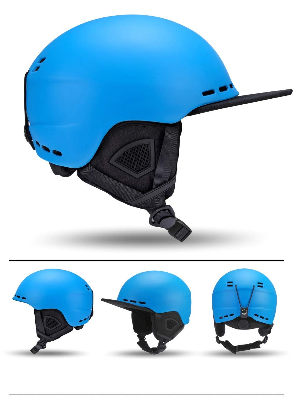 KTH Safety Adjustable Kids Bicycle Helmet, for Cycling, Skating, Scooting, Skiing(22-23 inch) (Color : Blue)