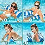 sopplea-Amaca-Gonfiabile-Lettino-Galleggiante-Amaca-di-Acqua-Amaca-Galleggiante-Versatile-Piscina-per-Adulti-Spiaggia-Rilassante-Piscina-per-Prendere-Il-Sole-Partito-Blu