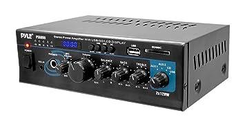 Pyle PTAU55 2.0 Hogar Alámbrico Negro - Amplificador de audio (2.0 canales, 240 W