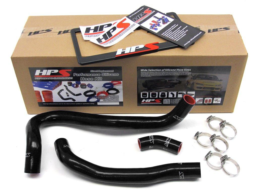 HPS 57-1021-BLK Black Silicone Radiator Coolant Hose Kit