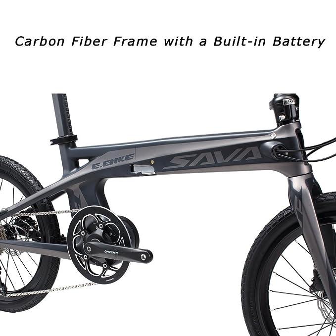 SAVA E8 Bicicleta eléctrica Fibra de carbono 20