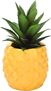 Sunm Boutique Artificial Succulent Potted Plants, Faux Pineapple Plants for Living Room Restaurant Office Tabletop Wine Cabinet Bath Room Home Decoration