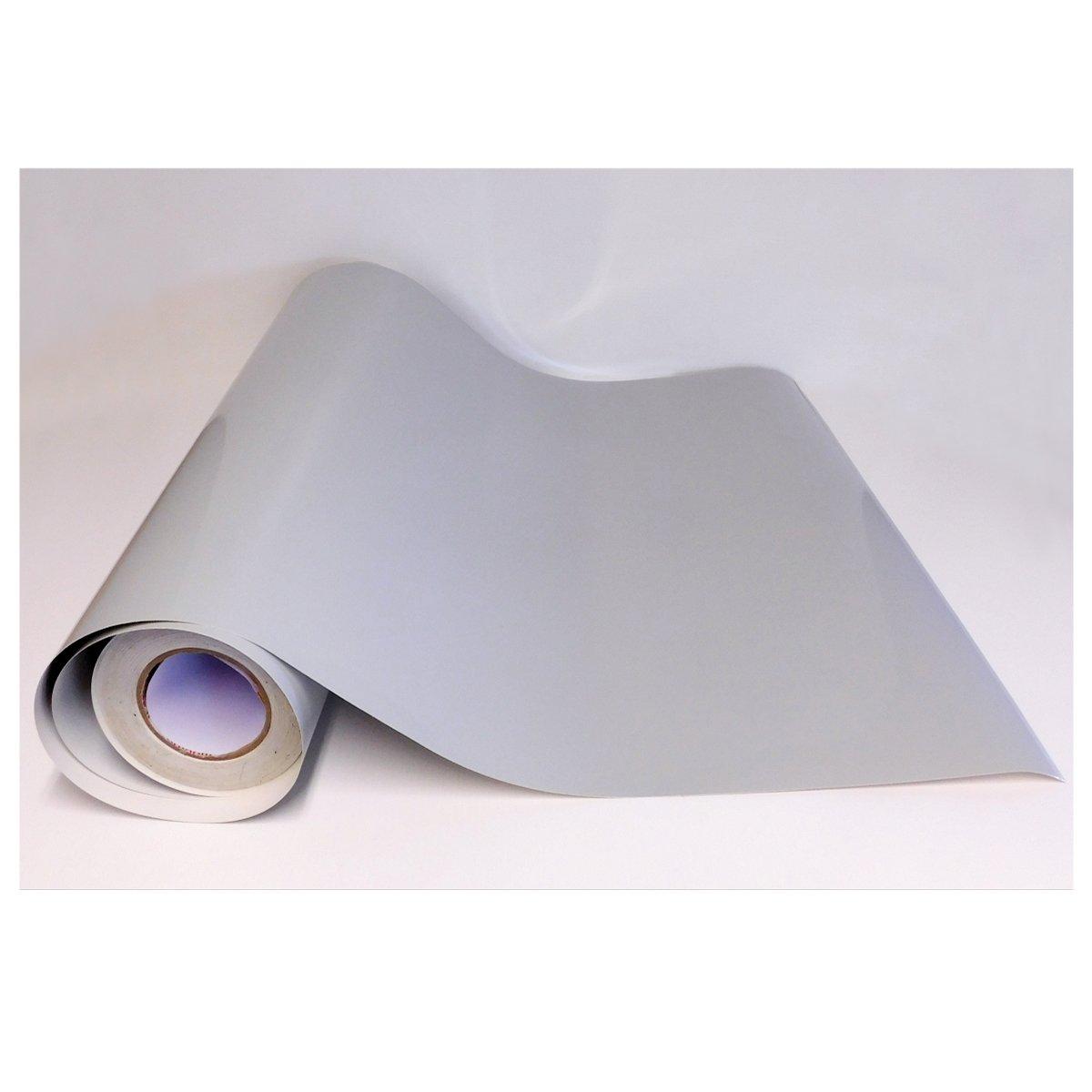 Adzif.biz Le sticker de decoration Rouleau adhé sif - Papier Peint Autocollant - Gris Clair Brillant (1 m x 123 cm) Mactac