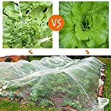 Originline Garden Netting Bug Mosquito Barrier Insect Screen Mesh Net, 6.5x15ft, White