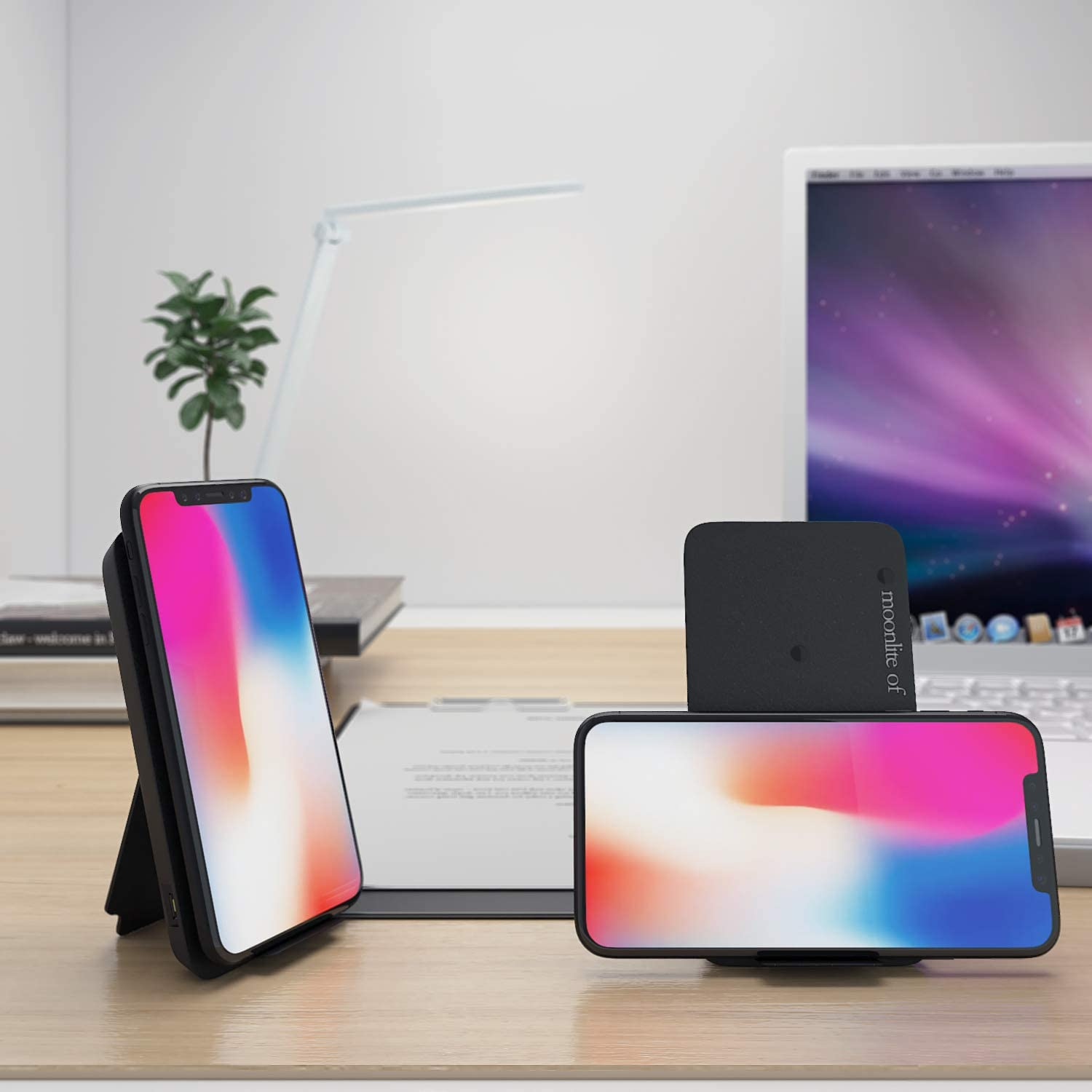 Wireless Charger Black2 Fast Wireless Charging Pad,Charging Dock//Station Replacement for Apple iPhone 8//8 Plus//X//XS//XS Max//XR Plus Samsung S9//S9+//S8//S8+//S7//Note 8 Qi Enabled 7.5//10w Devices