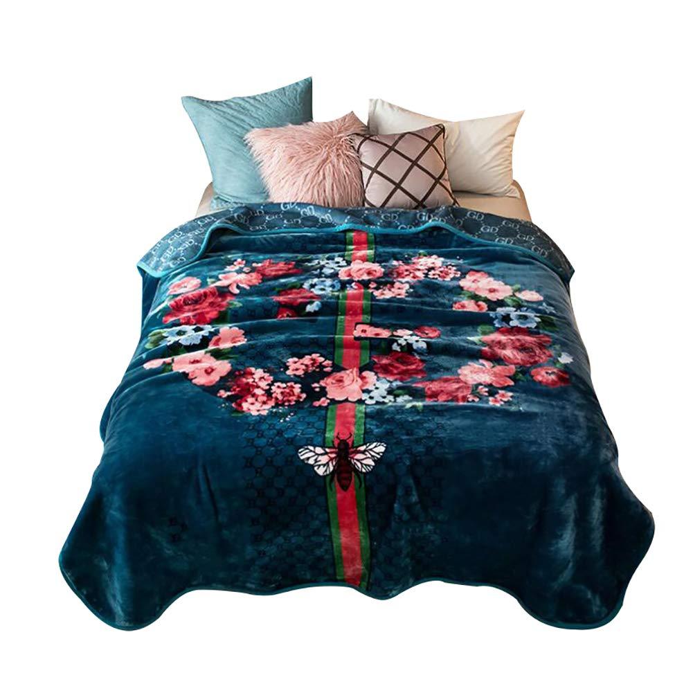 HSBAIS ウォーム毛布 小さい毛布キングサイズ - 寝具ソフト冬毛布フランネルウォッシャブルは、大人のために厚くなっています,dark green_200*230cm, B07K756S7Z dark green 200*230cm,