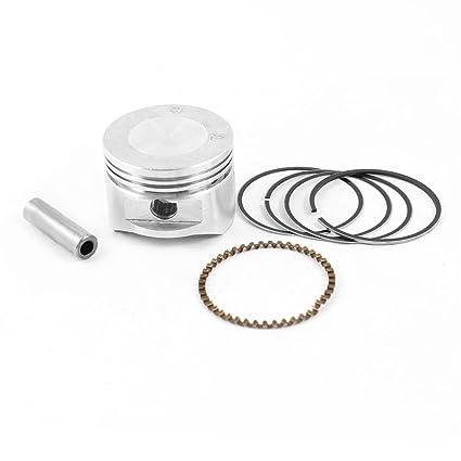 Tono plateado 8 mm Pin calibre diámetro juego de anillo de pistón compresor de aire