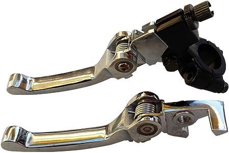 22mm Adjustable Folding Extending Brake Clutch Levers for 70 125cc Pit Bike