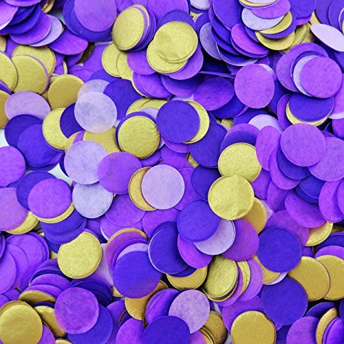 Confetti Circles 1/2 Inch Small 1 Color 8000 Plus Circles (Purple Circle)