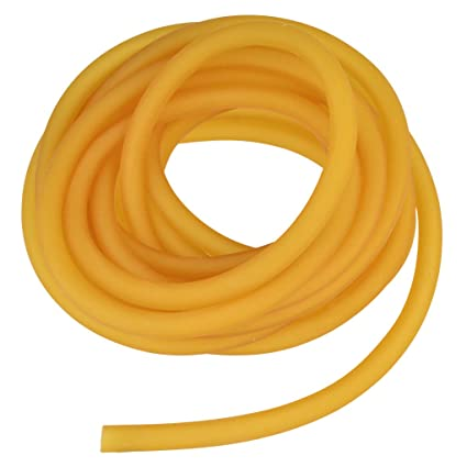 Nydotd Natural Latex Rubber Band, 1 64ft / 5m, 6x9mm Rubber Tube Tubing for  Slingshot Catapult Elastic Parts Rocket Outdoor Hunting, Yellow