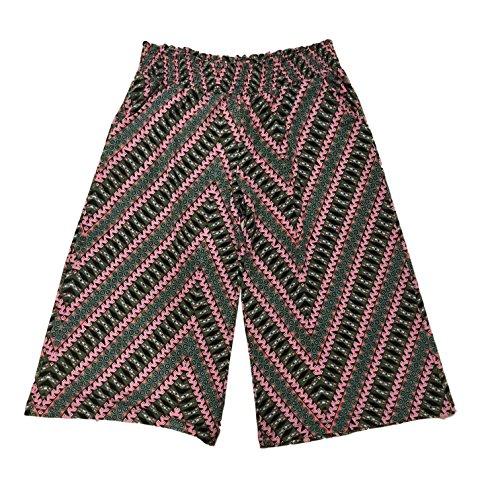 love, FiRE Womens Chevron Print Knit Gaucho Pant Size L (Smocked Dress Twill)